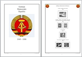 Stamp Album Pages DDR 1949-1990 on CD in WORD & PDF (English) for Self-Printing