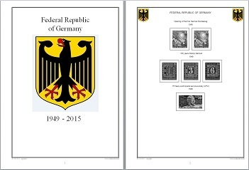 Stamp Album Pages GERMANY 1949-2015 on CD in WORD PDF (English for Self-Printing)