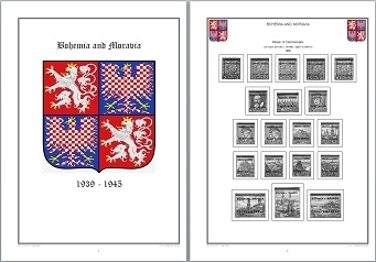 Stamp Album Pages Bohemia & Moravia CD in WORD PDF (English) for Self-Printing