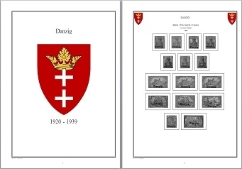 Stamp Album Pages Danzig CD in WORD PDF (English) for Self-Printing