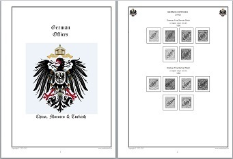 Stamp Album Pages German Offices CD in WORD PDF (English) for Self-Printing