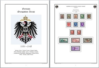 Stamp Album Pages German Occupation Areas 39-45 on CD in WORD & PDF (English) for Self-Printing